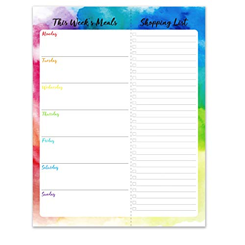 """Weekly Meal Planner - Notepad with Magnetic, 7"""" × 9"""" Grocery List Pad for Fridge/Desk, Tear-Off Shopping List, 52 Weeks to Plan Weekly Menu for Family"""