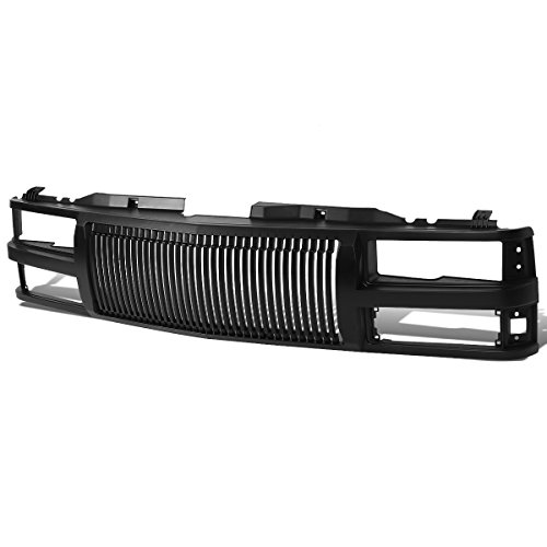 Black Front Bumper Vertical Fence Style Grille Replacement for Chevy C10 C/K-Series Suburban 1500 2500 Tahoe