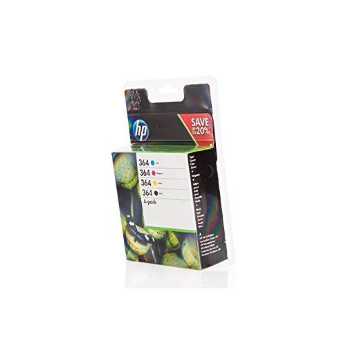 HP 364 4-Pack Black and Colour Original ink Combo Pack
