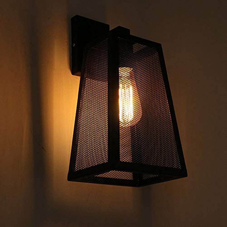 ZXF Amerikanischen Land Eisen Mesh E27 Lichtquelle LED Wandleuchte Bestrahlungsflche 8-11 Quadratmeter Lampe Beleuchtung Schwarz Warm
