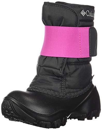 Columbia Rope Tow Kruser 2 Snow Boot, Dark Grey/Pink ice, 8 US Unisex Little Kid