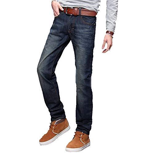 N\P Los Hombres Clásicos Casual De Talle Medio Recto De Mezclilla Jeans Pantalones Largos Pantalones Cómodos De Ajuste Suelto Ropa De Hombre Jeans