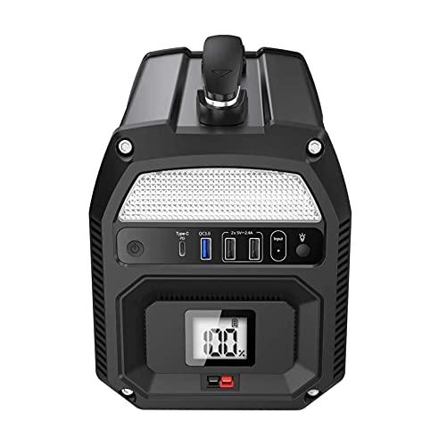 Central eléctrica portátil generador eléctrico portátil de 500 W – 2 tomas de alimentación CA – 3 USB (1 x QC3.0) – 1 Pd de tipo C – 3 puertos CC – Batería externa de 124800 mAh