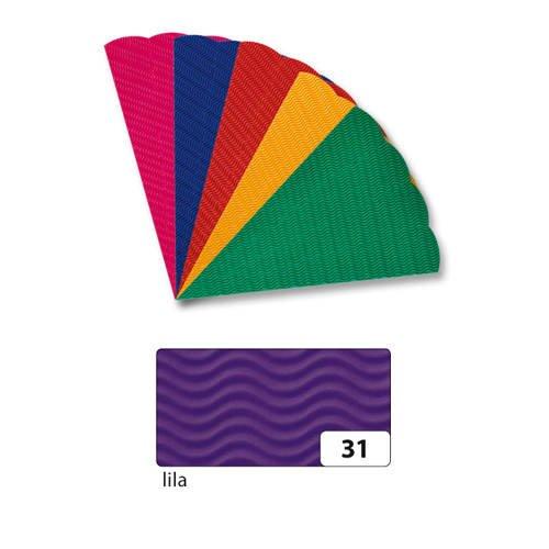 Schultüten-Rohling 3D-Welle, 68cm, lila [Spielzeug]