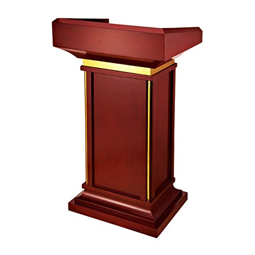 TnSok Stehendes Podium Deluxe Holz Podiumempfangsrestaurant Podium Tall Podium für Bodenkanzelhektre-Rezeption (Color : Red Brown, Size : 60x49x112cm)