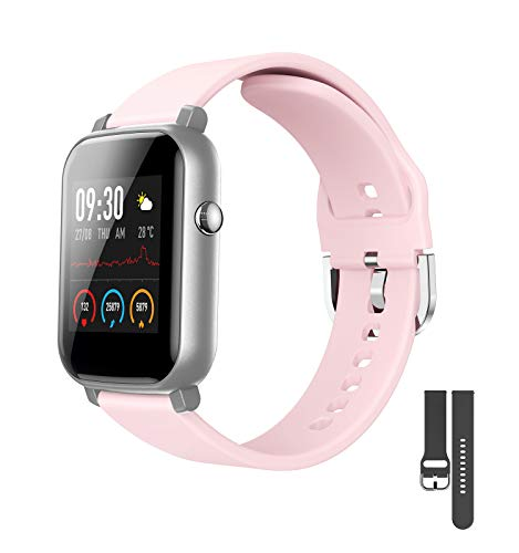 EdorReco Smart Watch, Touch Screen da 1,3 Pollici, con Cardiofrequenzimetro, Impermeabile IP68 Fitness Tracker Orologio Pedometro Cronometro, Smart Watch per Uomo Donna per i-Phone telefoni Android