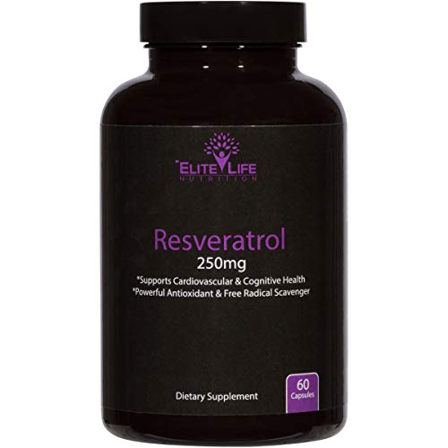 Pure Resveratrol 250mg - Trans-Resveratrol - Super Antioxidant For Men And Women - Supports Heart, Brain, And Immune System Health - Natural, Raw, And Premium Anti-Aging Supplement - 60 Vegan Capsules