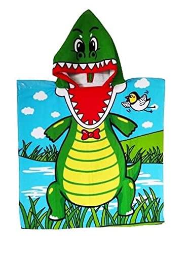 Goods4good Toalla Poncho Infantil Playa Piscina con Capucha Dibujo Dinosaurio Sirena Princesa...
