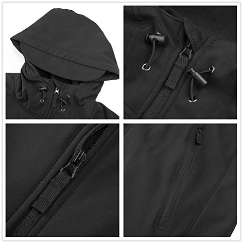 ANTARCTICA Mens Winter Tactical Military Softshell Heated Jacket Coat(Power Bank NOT Included)