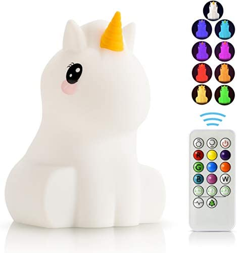 LED Nursery Night Lights for Kids USB Rechargeable Animal Silicone Lamps with Touch Sensor and product image