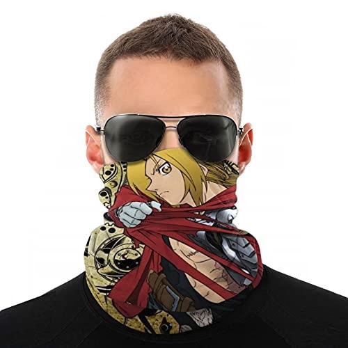 to-ky-o Ghou-l A-yato Gesichtsmaske Unisex Bandana Sturmhaube Cool Skin-Touch Kopftuch Sonnenfest Staubdicht Neck Gaiter für Outdoor Laufen Angeln Gr. One size, Ful-lmetal Al-chem-ist Edw-ard