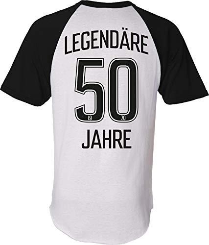 Trikot: Legendäre 50 Jahre - Geburtstag - Jahrgang 1970 T-Shirt - Geburtstags-Geschenk - Fußball - Sport - Männer Frau-en - Damen Herren - Lustig - Fünfzig-Ster - Stadion - Fan (XXL)