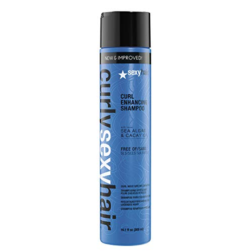SexyHair Curly Curl Enhancing Shampoo, Color Safe, 10.1 fl. oz.