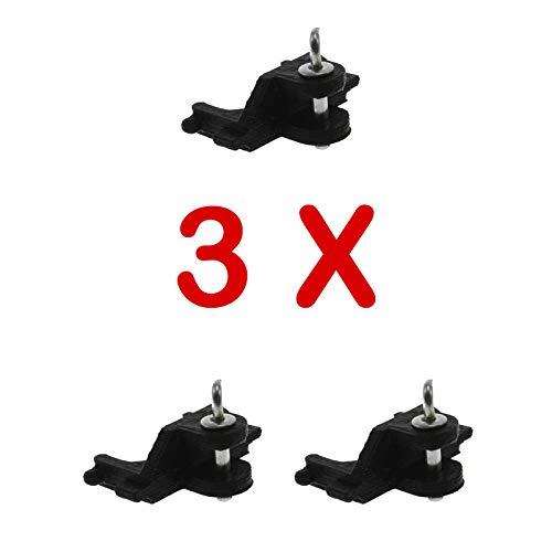 Adapter Heckkupplung mit Bolzen 3er Set für Siku Traktoren 1:32 (Schwarz)