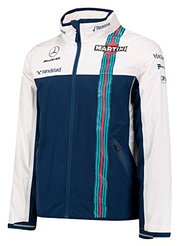 Williams Martini Racing F1 Formula One Team - Chaqueta Impermeable para Hombre, Color Azul y Blanco, Color Azul/Blanco, tamaño XX-Large