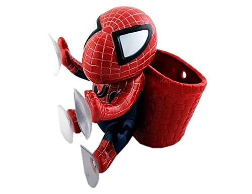 WSWJ Spider Man Chuck Puppe Autoeinrichtung Artikel Korb Puppe Niedliche Saugkasse Auto Aufkleber Dekoration Autozubehör 13 cmx13cm