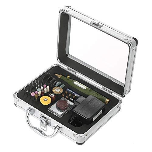 Adaskala Mini-amoladora eléctrica multifuncional Kit de herramientas y accesorios rotativos de velocidad...