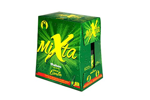 Mahou Mixta Cerveza Clara - Pack de 6 Botellines x 25 cl - 0,9% Volumen de Alcohol