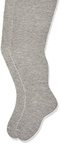 NAME IT Unisex Baby Strumpfhose NMFPANTYHOSE 2P NOOS, 2er Pack, Grau (Grey Melange), One Size (Herstellergröße: 86-92)