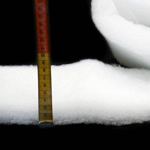 (10,49€/m) Schneematte - 330 gr - Schneevlies extra dick, Kunstschnee - Überbreite 210 cm! -Flammenhemmend BS 5852, T2- Meterware