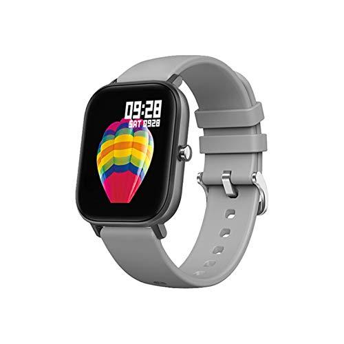 LYB Smart Watch Men Full Touch Fitness Presión Arterial Mujer Deportes SmartWatch GTS para Xiaomi Relogio (Color : Grey)
