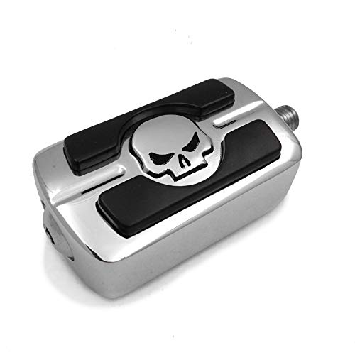 HTTMT - Chrome Gear Skull Shifter Peg compatible con Street Bob FXDB Superlow 1200T Tour Glide cromado [P/N: MT216-053-CD (OLD)]