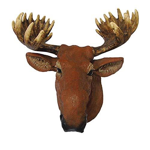 FACAZ Scultura a Testa di Cervo montata a Parete, Alce Renna Busto Scultura da Appendere a Parete Sfondo Decorazione da Parete