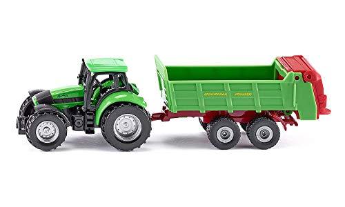 siku 1673, Traktor mit Universalstreuer, Metall/Kunststoff, grün, Öffenbare Heckklappe