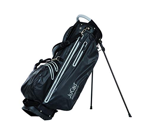 JuCad Bag 2 in 1 Waterproof I Wasserdicht I Tragebag I Cartbag I Golf I Tasche I Farbe Schwarz-Titan