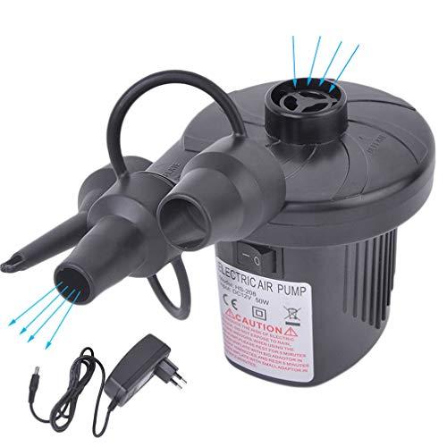 Elektrische Luftpumpe | Pumpe Luftmatratze mit 3 Düsen| Pool Luftpumpe Elektro | Luftmatrazenpumpe Luftpumpe Matratze für Pool Schlauchboot Luftbett Gymnastikball