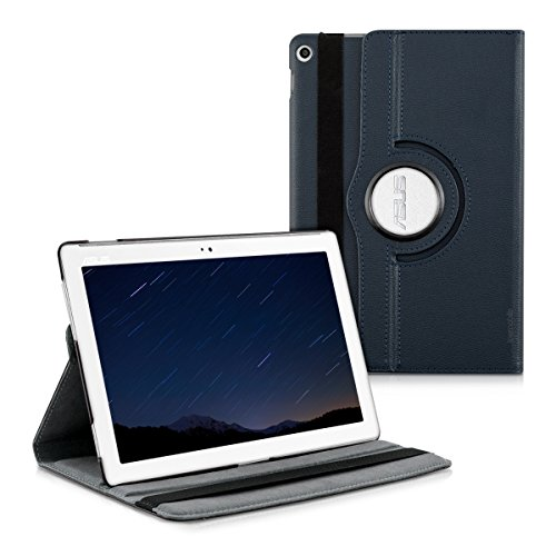 kwmobile Asus ZenPad 10 (Z300) Hülle - 360° Tablet Schutzhülle Cover Case für Asus ZenPad 10 (Z300) - Dunkelblau