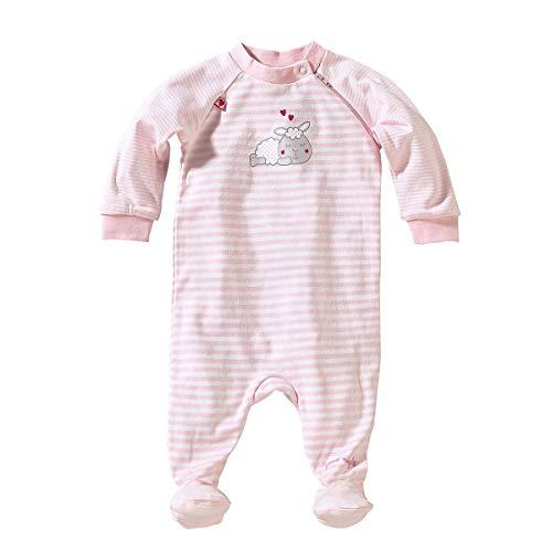 Bornino Bornino Schlafoverall - Baby-Schlafstrampler mit Streifen- & Bärchen-Print - Strampler aus Reiner Baumwolle mit praktischem Reißverschluss
