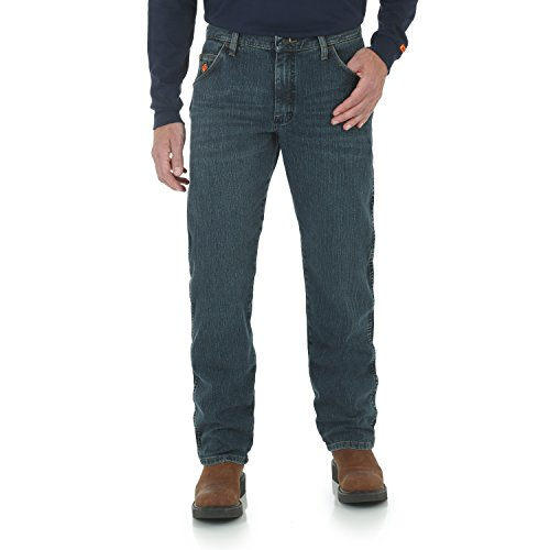 Wrangler Riggs Workwear mens Fr Flame Resistant Advanced Comfort Regular Fit Jean Work Utility Pants, Dark Tint, 36W x 30L US (Riggs Utility Jeans)