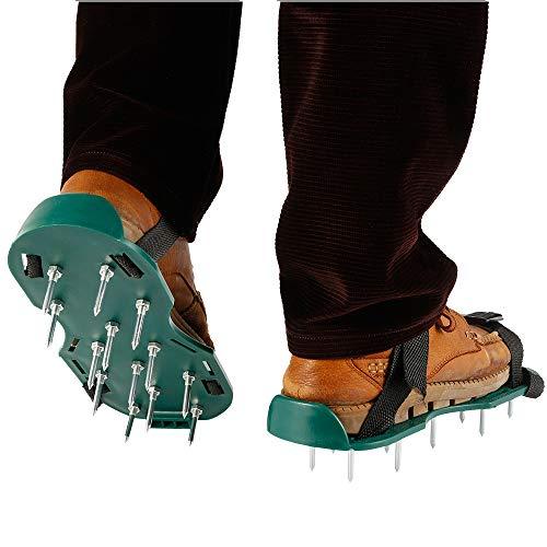 Zapatos Aireadores de Césped Zapatos con Suelas Escarificadoras y 2 Nuevo Tipo de Hebilla Fija Zapatos Aireadores para un aireado Sencillo y fácil del césped