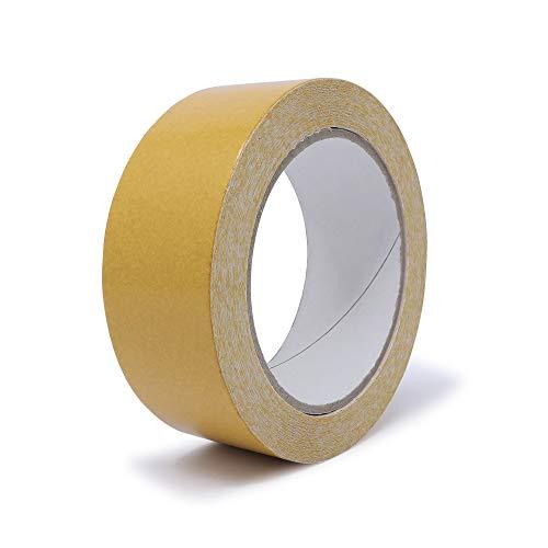 gws Doppelseitiges Verlegeband | Beidseitig stark klebendes Teppichband mit Folienträger | Verklebung von Teppichen & PVC-Böden in Profi-Qualität (1, 25 m x 38 mm)