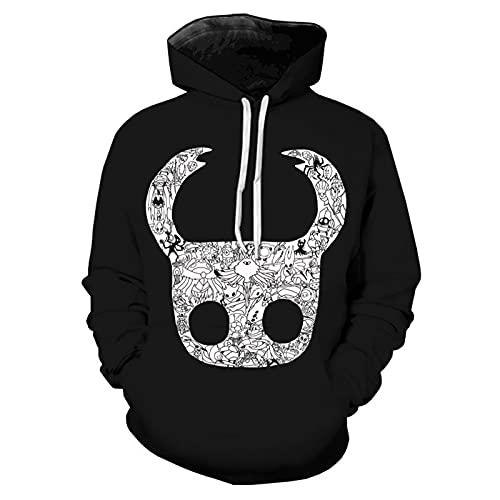 Hollow Knight Juego de Sudadera con Capucha Hollow Knight 3D Print Figure Pullover Sweatershirt Tops Casuales de...
