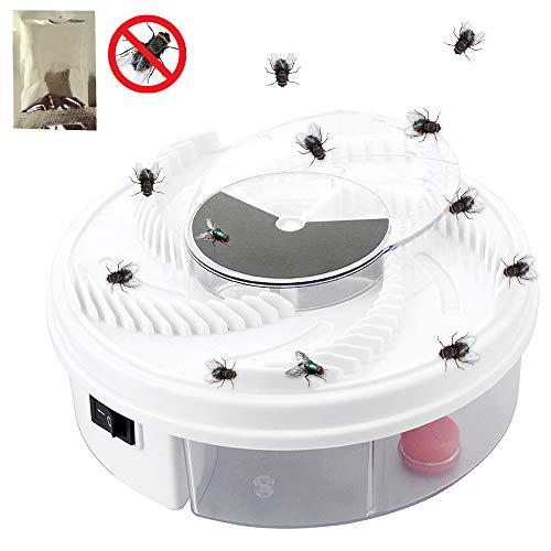 CXZC Trampa de mosca eléctrica trampa de mosca giratoria automática, para casa, cocina, restaurante