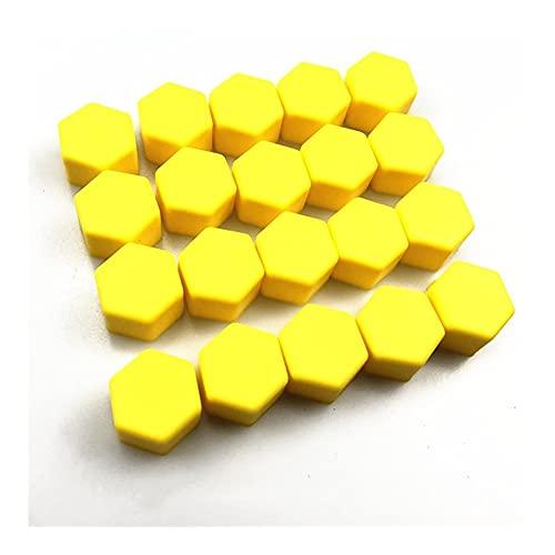 LinYom Accesorios para Automóviles Tornillos De Rueda Cubierta/Ajuste para - H-ON-D-A/Brio Clarity HR-V Vezel Passport Pilot CR-Z NSX Ridgeline (Color Name : 21mm Yellow)