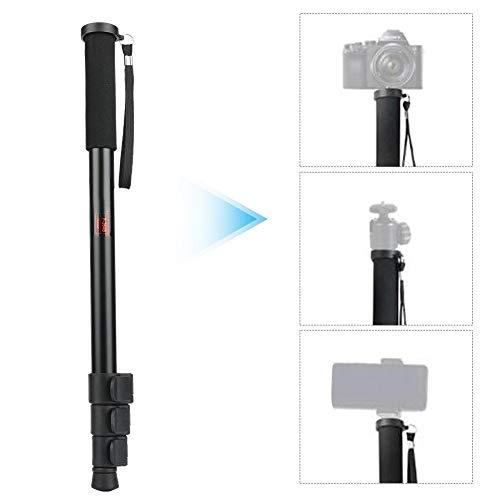 Topiky Inschuifbaar monopod, draagbare 3 kg selfie stick mount metalen stang met 1/4 tot 3/8 inch schroef voor spiegelreflexcamera, spiegelloze camera, flitser, mobiele telefoon, microfoon, LED-licht, P264B
