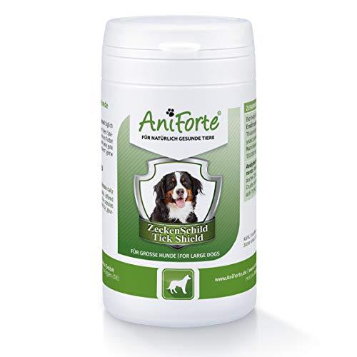 AniForte Zeckenschild für Hunde (Groß 35-50 kg) 60 Kapseln - Tabletten mit Bierhefe & Thiamin zum Schutz, Ergänzungsfuttermittel für die natürliche Hautbarriere