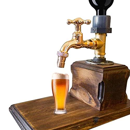 Dispensador de madera de whisky con forma de grifo, dispensador de madera de whisky, grifo de alcohol universal, dispensador de alcohol para el día del padre (individual)