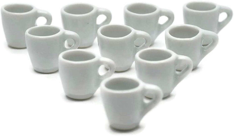 10 White Coffee Mug Tea Cup Big Size Dollhouse Miniatures Food Kitchen Cool Price