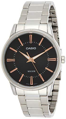 Casio Reloj Analógico para Hombre de Cuarzo con Correa en Acero Inoxidable MTP-1303PD-1A3VEF