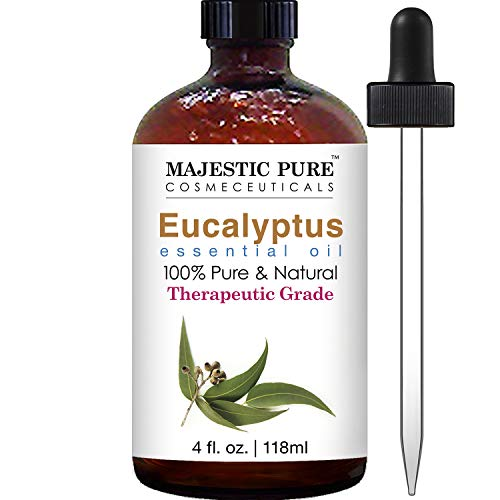 Majestic Pure Eucalyptus Essential Oil Pure and Natural with Therapeutic Grade Premium Quality Eucalyptus Oil 4 Ounces
