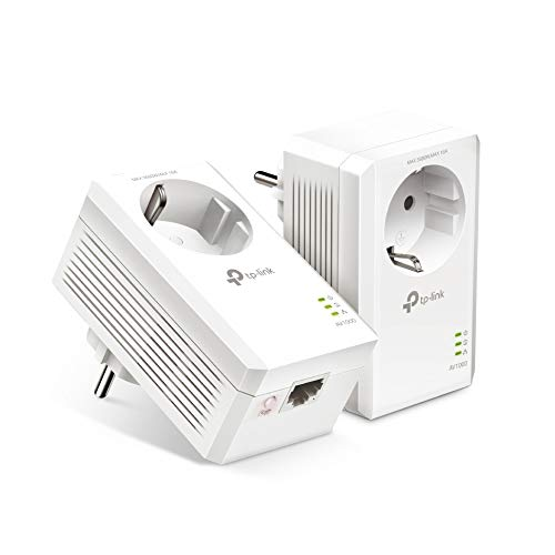 TP-Link TL-PA7017P Kit AV1000 Gigabit Powerline Starter Kit, Sin WiFi, 1 Gigabit Puerto, Super Ahorro de Energía