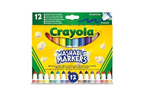 Crayola-12 Pennarelli Lavabili con Punta Maxi in Fibre Super-Resistente, 58-8340