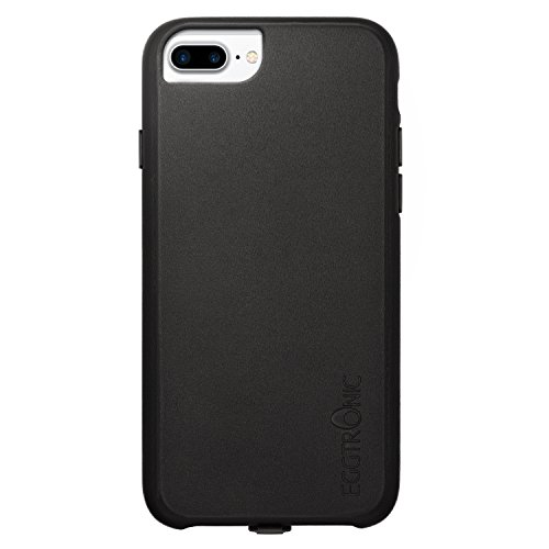 Eggtronic Leather Wireless Charging Case - Cover Ricarica Wireless in Pelle Universale per iPhone 6 Plus / 6S Plus / 7 Plus (Black - Nera)