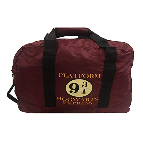 Pritties Accessories Genuine Harry Potter 9 3/4 Hogwarts Express Pack Away Duffle Bag Holdall
