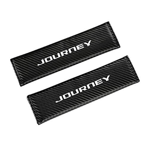 Para Dodge Journey Cubierta CinturóN Seguridad AutomóVil Y Hombrera,Material Cuero Fibra Carbono,Cubierta CinturóN Seguridad AutomóVil,Cubierta Protectora CinturóN,Almohadilla Hombro CinturóN,2 Piezas