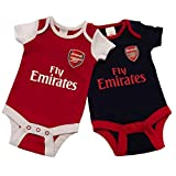 Arsenal FC - Bodys diseño Fly Emirates para bebés/recién nacidos (Paquete de...